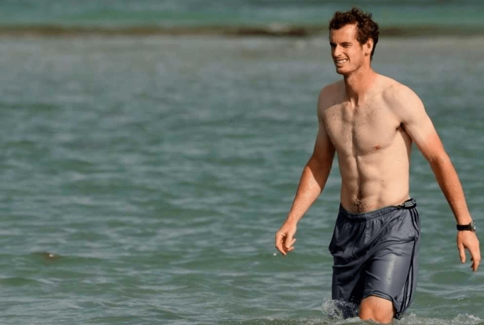 Andy Murray na praia