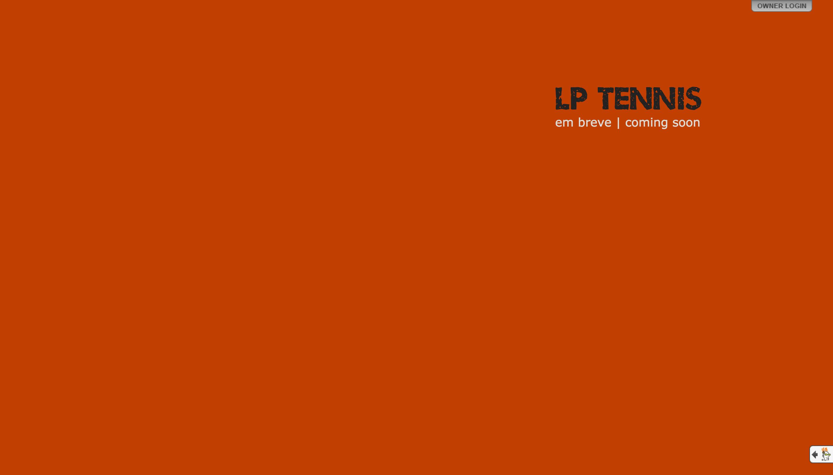 Primeira versão do site da Lptennis