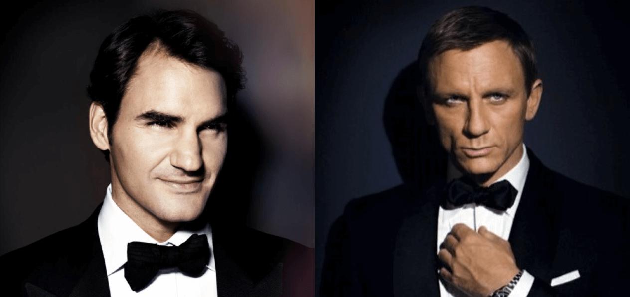 Roger Federer como James Bond
