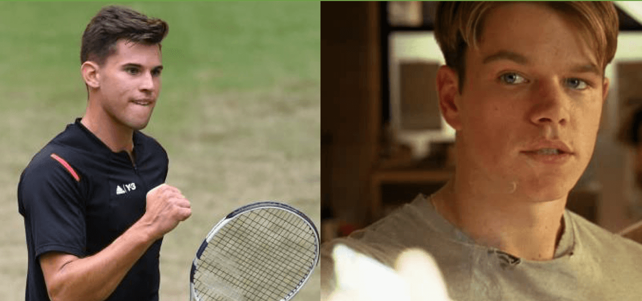Dominic Thiem como Will Hunting