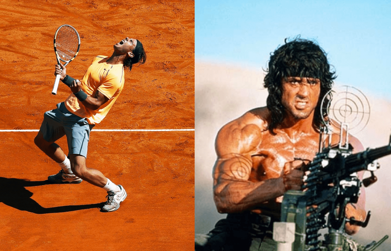 Rafael Nadal como Rambo